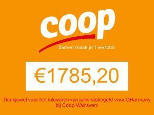 Opbrengt COOP statiegeldactie bekend!