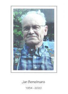 In memoriam Jan Bemelmans